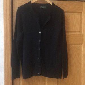 Eddie Bauer XL black cardigan
